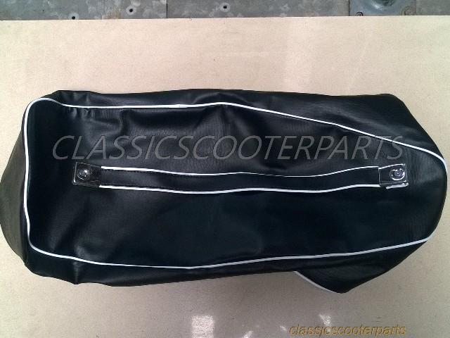 Vespa long dual bench seat saddle dark BROWN COVER VBC VLB GL V8294